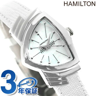 HAMILTON Hamilton VENTURA lady Ventura Lady's mother of pearl watch H24211852