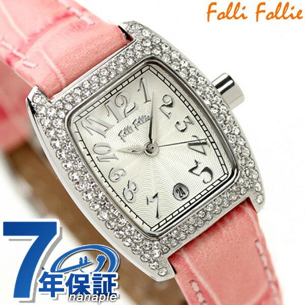 フォリフォリ Folli Follie 腕時計 レディース ジルコニア シルバー×ピンク S922ZI-SLV-PNK