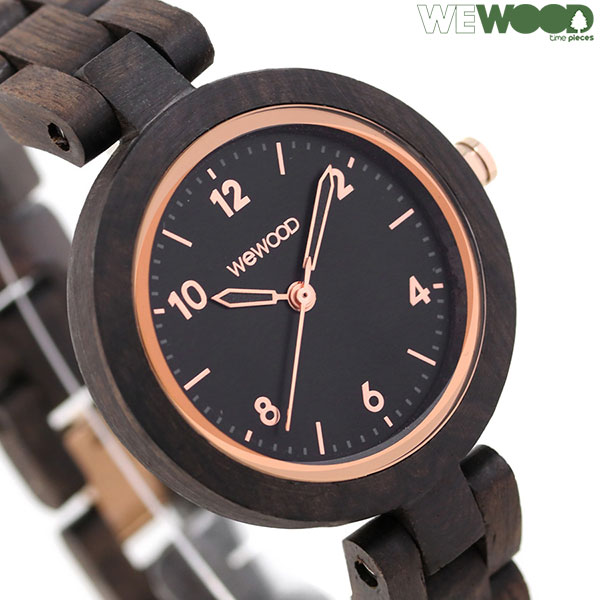 ウィーウッド 木製 天然木 33mm レディース 腕時計 9818180 WE WOOD DAPHNE BK ROUGH ROSE 時計【あす楽対応】