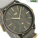【店内ポイント最大44倍】 ウィーウッド アイリス 38mm 木製 リネンベルト レディース 腕時計 9818189 WEWOOD ブラウン 時計