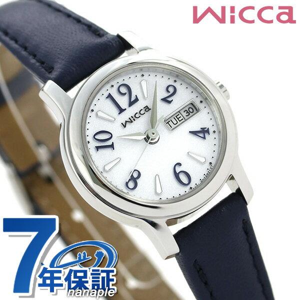 シチズン ウィッカ ソーラー デイデイト 腕時計 KH3-410-10 CITIZEN wicca ネイビー【あす楽対応】