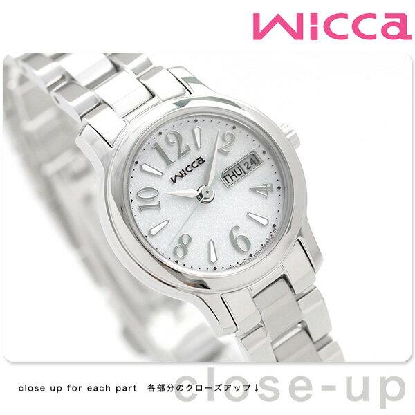 シチズン ウィッカ ソーラー レディース 腕時計 KH3-410-11 CITIZEN wicca デイデイト シルバー