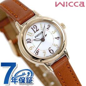 シチズン ウィッカ レディース 腕時計 シンプル ソーラー KP3-627-10 CITIZEN wicca 革ベルト 時計【あす楽対応】