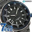 【クオカード付き♪】セイコー ワイアード ソリディティ 45mm メンズ 腕時計 AGAJ406 SEIKO WIRED オールブラック 時計