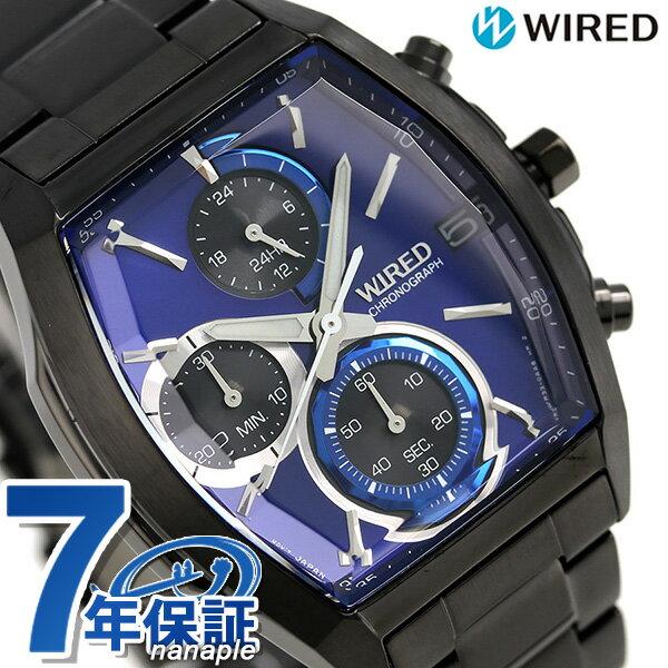 セイコー ワイアード ニューリフレクション クロノグラフ AGAV125 SEIKO WIRED 腕時計 オールブラック