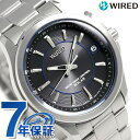 セイコー ワイアード 電波ソーラー メンズ 腕時計 AGAY009 SEIKO WIRED ブラック【あす楽対応】