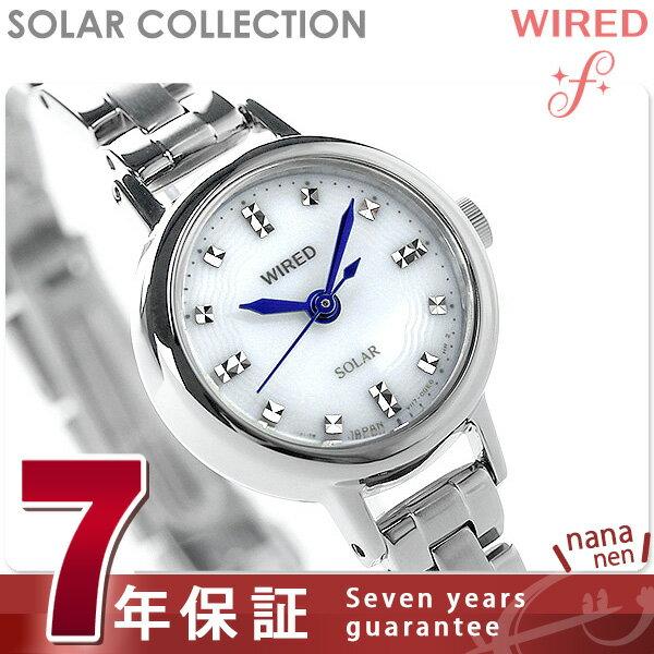 セイコー ワイアード エフ ソーラーコレクション レディース AGED073 SEIKO WIRED f 腕時計 シルバー 時計【あす楽対応】