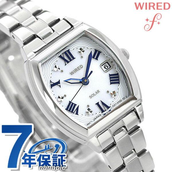 セイコー ワイアード エフ ソーラー レディース 腕時計 AGED075 SEIKO WIRED f シルバー 時計