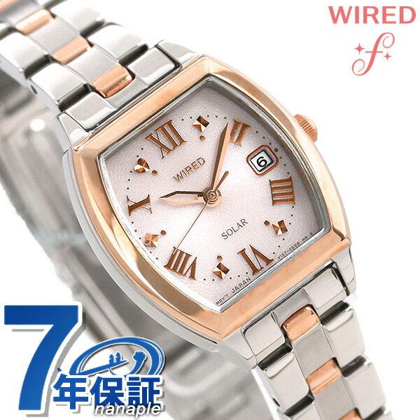 セイコー ワイアード エフ ソーラー レディース 腕時計 AGED076 SEIKO WIRED f シルバー×ピンクゴールド 時計【あす楽対応】