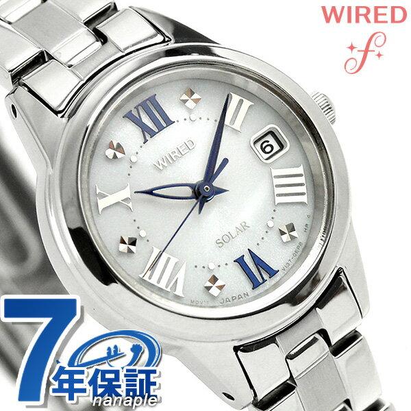 セイコー ワイアード エフ ソーラー レディース 腕時計 AGED078 SEIKO WIRED f シルバー 時計【あす楽対応】