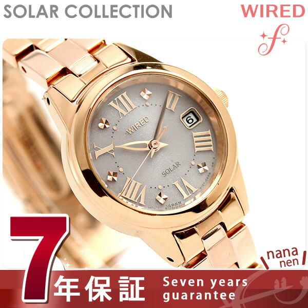セイコー ワイアード エフ ソーラー レディース 腕時計 AGED080 SEIKO WIRED f ピンク 時計