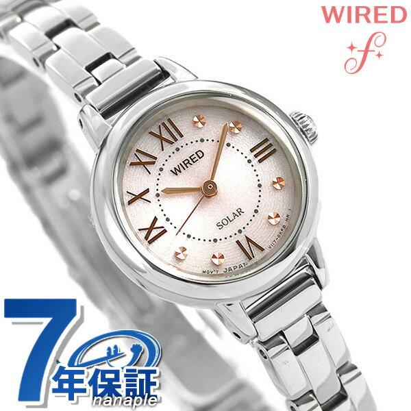 セイコー ワイアード エフ ソーラー レディース 腕時計 AGED094 SEIKO WIRED f ピンク 時計【あす楽対応】