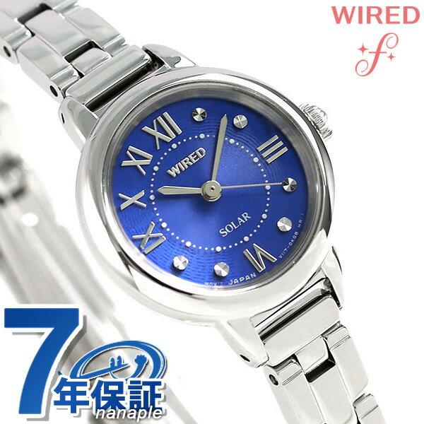 セイコー ワイアード エフ ソーラー レディース 腕時計 AGED096 SEIKO WIRED f ブルー 時計【あす楽対応】