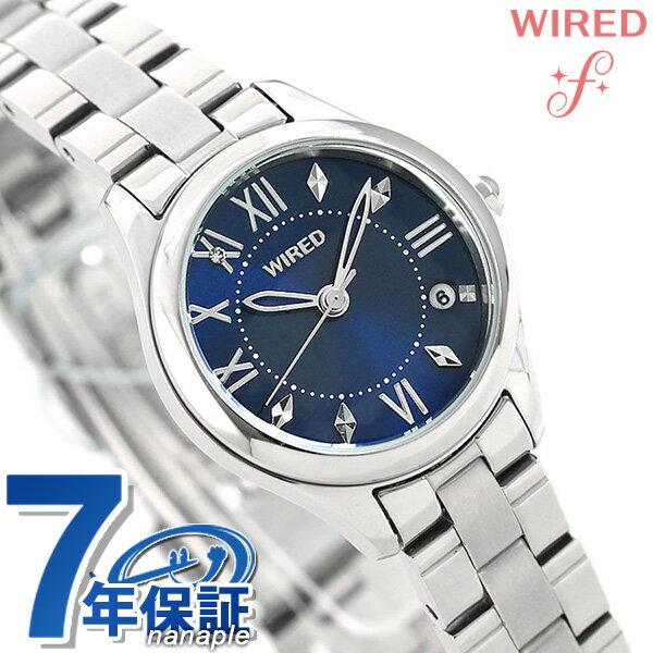 セイコー ワイアード エフ ペアスタイル レディース 腕時計 AGEK423 SEIKO WIRED f ネイビー 時計【あす楽対応】