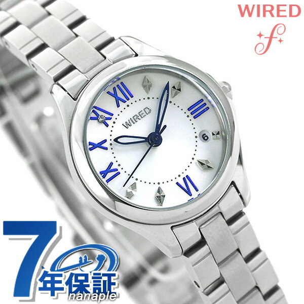 セイコー ワイアード エフ ペアスタイル レディース 腕時計 AGEK424 SEIKO WIRED f ホワイト 時計【あす楽対応】