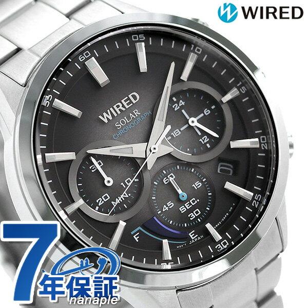 セイコー ワイアード SEIKO WIRED クロノグラフ ソーラー メンズ 腕時計 AGAD095 トウキョウ ソラ【あす楽対応】