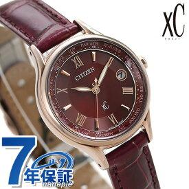シチズン クロスシー CITIZEN xC エコドライブ 電波時計 サクラピンク(R) チタン レディース 腕時計 EC1164-02W 電波ソーラー 赤 革ベルト【あす楽対応】