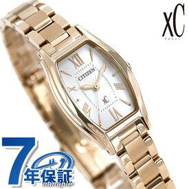 シチズン クロスシー CITIZEN xC エコドライブ 時計 トノー レディース 腕時計 EW5542-57A ソーラー シルバー×ゴールド【あす楽対応】