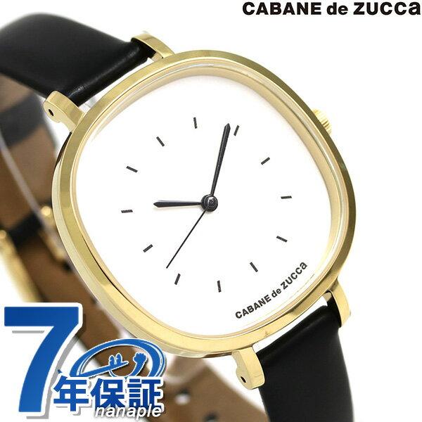 ズッカ バターサブレ 35mm レディース 腕時計 AJGK081 CABANE de ZUCCa シルバー×ブラック 時計