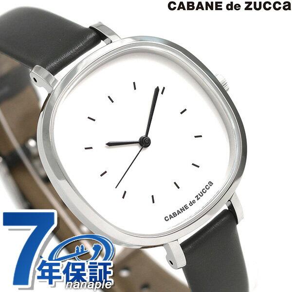 ズッカ バターサブレ 35mm レディース 腕時計 AJGK082 CABANE de ZUCCa ホワイト×グレー 時計【あす楽対応】