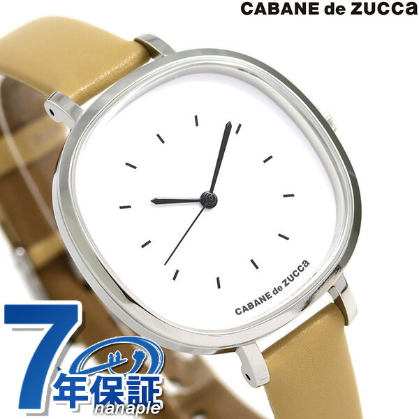 ズッカ バターサブレ 35mm レディース 腕時計 AJGK083 CABANE de ZUCCa ホワイト×ベージュ 時計【あす楽対応】