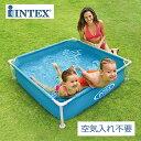 【INTEX インテックス】ミニフレームプール【ブルー 2018年モデル 122×122×30cm】