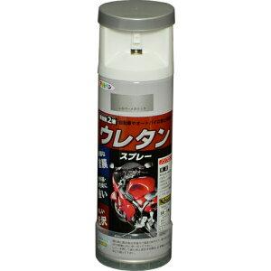 【アサヒペン】塗料 2液ウレタンスプレー【300ml シルバーメタリック】