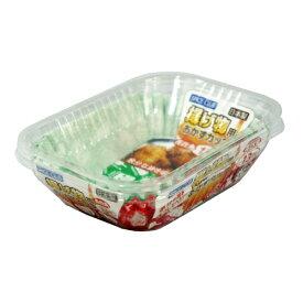 【大和物産】弁当ケース 揚げ物用おかずカップ【長四角 13枚 レッド、グリーン2色】