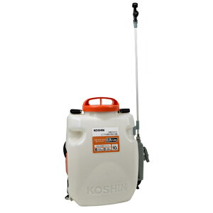 【工進】噴霧器 充電式背負い噴霧器10L【SLS−10 10L ホワイト×オレンジ】