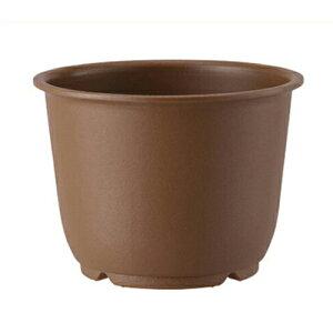 【アップルウェアー】プラスチック製鉢 陶鉢 輪型【5号 きん茶 0.8L 148φ×110mm】