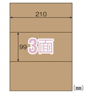 ヒサゴ OPD3031 クラフト紙ラベルダーク 3面 20シート 送料無料