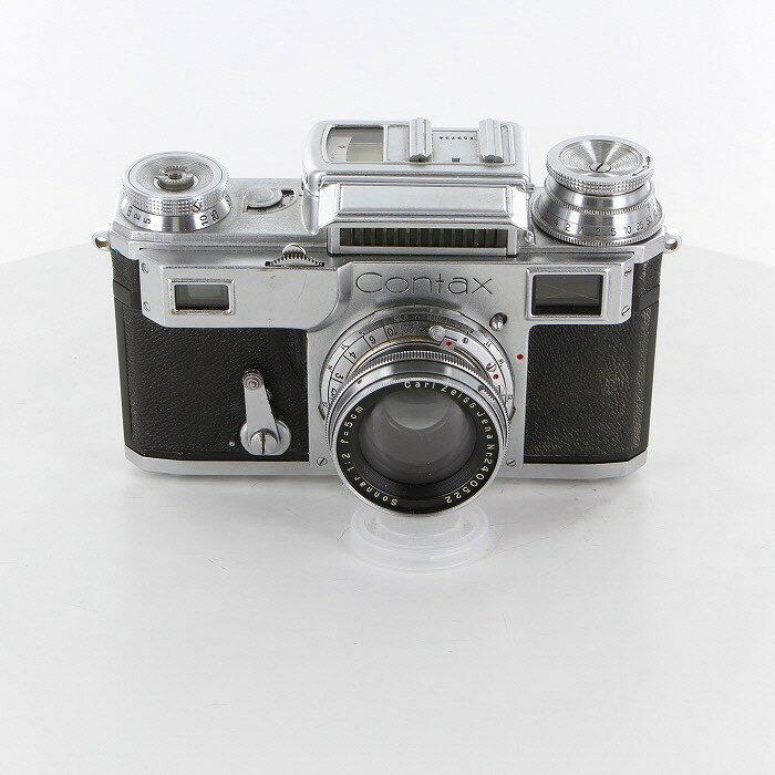 【中古】 (カールツアイス) Carl Zeiss コンタックスIII+ゾナー50/2【中古カメラ レンジファインダー】 ランク:B