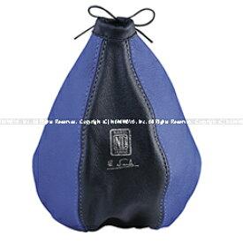 【マラソン期間中!全品2倍以上&特別クーポン!】NARDI/ナルディ LEATHER BOOTS(シフトブーツカバー)ブラック/ブルー 商品番号:NL2