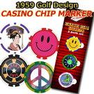 【即納】1959GolfDesignオリジナルCASINOCHIPMARKERカジノチップマーカー3枚パック