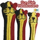 【即納】Sunfish(サンフィッシュ)アニマルヘッドカバー【ネコベルギー】(ドライバー用、フェアウェイウッド用、ユーティリティ用)