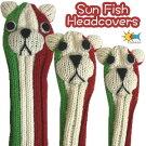 【即納】Sunfish(サンフィッシュ)アニマルヘッドカバー【パグイタリア】(ドライバー用、フェアウェイウッド用、ユーティリティ用)
