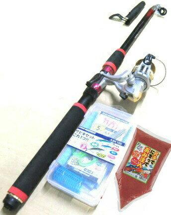 釣り竿/サビキ/サビキセットプロマリン わくわくサビキ釣りセットDX 300cm(エサセット)売れ筋