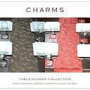 チャームズ テーブルランナーサイズ:幅50cm×長さ170cm【テーブルランナー/ボタニカル柄/リーフ柄/エレガント/ナチ…