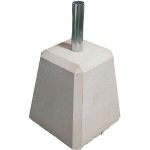 27233 のぼり旗用コンクリートポールスタンド サイズ: W250×D250×H420mm パイプ内径/32mm 対応ポール/25〜30mmまで 素材:コンクリート パイプ/スチール 重量:約26kg ※お取寄商品