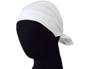 バンダナキャップ(ホワイト)素材:ポリエステル85%綿15%