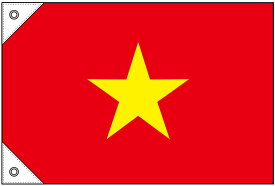 23709 国旗 ベトナム ミニ(販促用) 素材:ポンジ サイズ:W450mm×H300mm