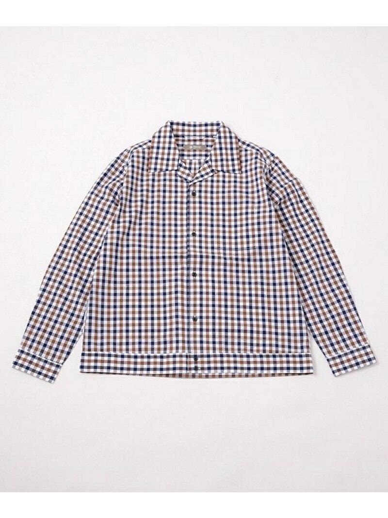[Rakuten BRAND AVENUE]【SALE/10%OFF】ギンガムチェックシャツジャケット nano・universe ナノユニバース コート/ジャケット【RBA_S】【RBA_E】【送料無料】
