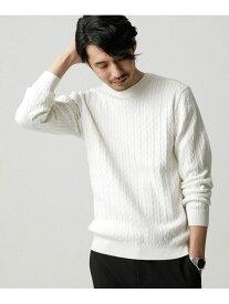 [Rakuten Fashion]【SALE/10%OFF】シルクブレンドハイゲージケーブルニット nano・universe ナノユニバース ニット ニットその他 ホワイト ブルー ブラック【RBA_E】【送料無料】