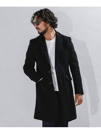 [Rakuten Fashion]【SALE/10%OFF】SUPER140'S メルトンチェスターコート nano・universe ナノユニバース コート/ジャケット チェスターコート ブラック グレー【RBA_E】【送料無料】