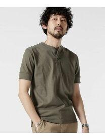 [Rakuten Fashion]【SALE/10%OFF】AntiSoakedヘビーヘンリーネックTシャツ nano・universe ナノユニバース カットソー Tシャツ カーキ ブラック グレー ホワイト【RBA_E】【送料無料】