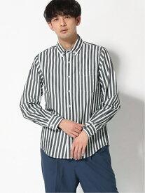 [Rakuten Fashion]【SALE/70%OFF】:ブロードストライプシャツLS nano・universe Selected ナノユニバース シャツ/ブラウス 長袖シャツ グリーン ネイビー ブラック レッド【RBA_E】
