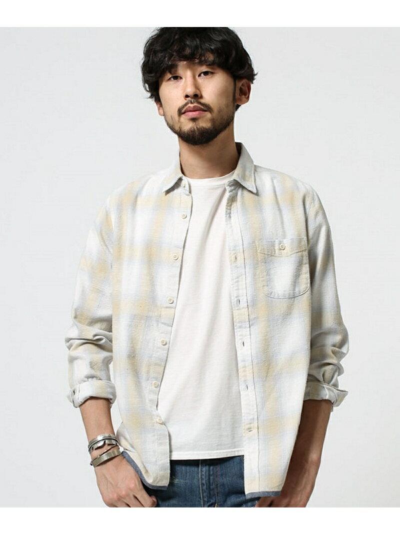 [Rakuten BRAND AVENUE]【SALE/68%OFF】ヴィンテージライクチェックシャツ L/S nano・universe ナノユニバース シャツ/ブラウス【RBA_S】【RBA_E】