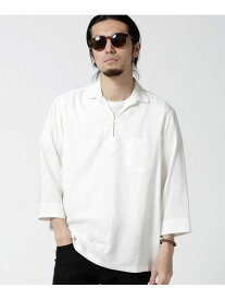 [Rakuten Fashion]【SALE/50%OFF】リネンレーヨンスキッパーシャツ7S nano・universe ナノユニバース シャツ/ブラウス シャツ/ブラウスその他 ホワイト ブラウン ネイビー【RBA_E】