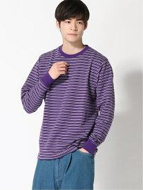 [Rakuten Fashion]【SALE/60%OFF】:リップルボーダーTシャツLS nano・universe Selected ナノユニバース カットソー Tシャツ パープル カーキ ブラック【RBA_E】