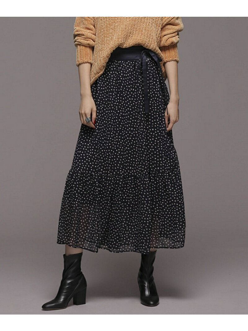 [Rakuten BRAND AVENUE]レイヤードドットスカート nano・universe ナノユニバース スカート【送料無料】